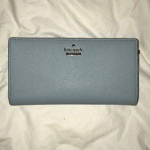 Late Spade sky blue purse